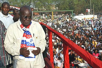 Nana Afuko-Addo on the campaign trail.