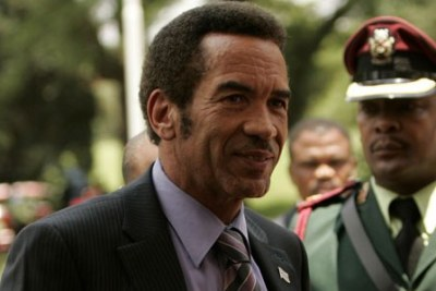 President Ian Khama of Botswana (file photo).