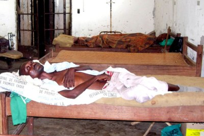An Aids patient in the public hospital in Kisangani in the Democratic Republic of the Congo.