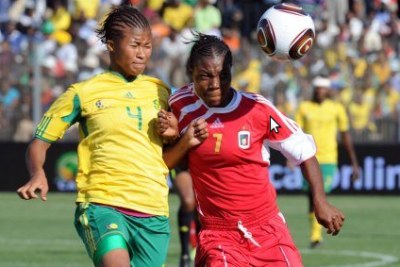 South Africa and Equatorial Guinea at the 2010 African Women's Championship.