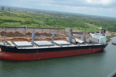 Business billionaire Moses Motsa, the project leader, intends to dig a 26 km long canal from the Indian Ocean south of Maputo, west across Mozambique to the town of Mlawula where a harbour big enough to berth four ships at a time will be built (file photo).