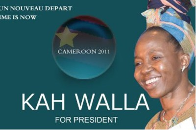 A Campaign Poster for Kah Wallah, the Presidential candidate for the Cameroon People's Party.