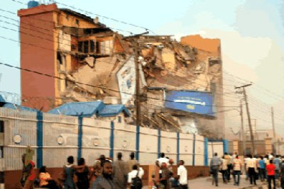 A six-storey building in 11 Aderibigbe Street in the Maryland area of Lagos has collapsed.