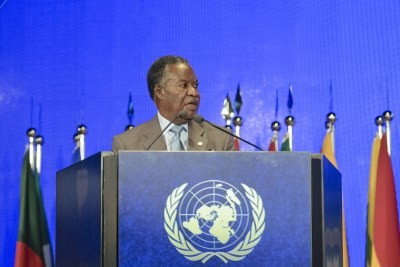 File photo:Michael Chilufya Sata, President of the Republic of Zambia, in Rio de Janeiro, Brazil.
