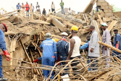 building collapse in Abuja.