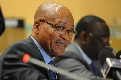 President Jacob Zuma at the African Union Summit in Ethiopia, January 2013.