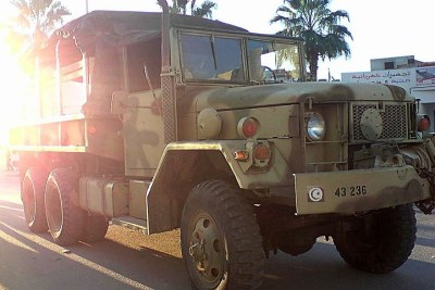 Tunisian army vehicle (file photo).