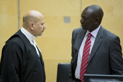 Kenya's deputy President William Ruto's day in court at the Hague (file photo).
