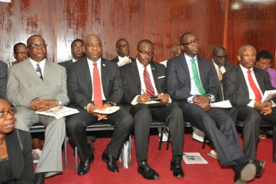 Members of the Liberian cabinet (file photo).