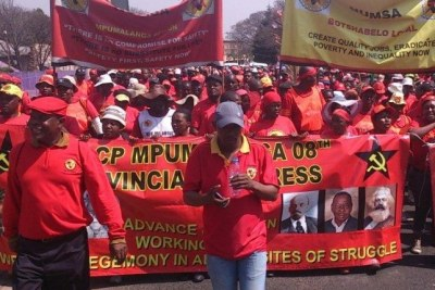 Numsa members marching in Limpopo (file photo).