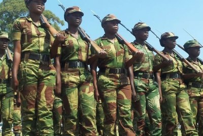 Zimbabwe National Army Parade.