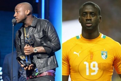 Ivory Coast midfielder Yaya Toure, and Nigerian music star Davido.
