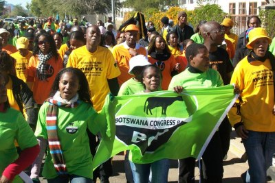 Botswana Congress Party won three seats.