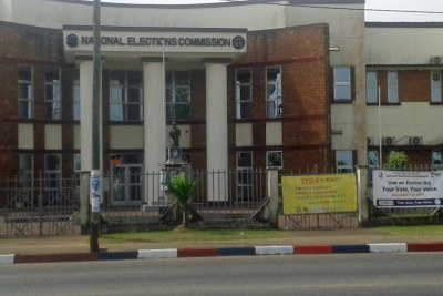 The headquarters of Liberia's National Elections Commission.