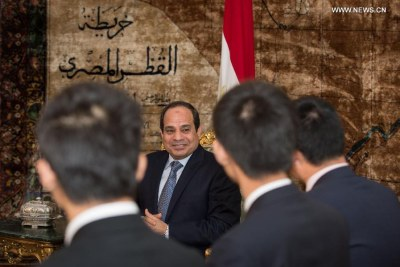 Egyptian President Abdel Fattah al-Sisi on a visit to China.