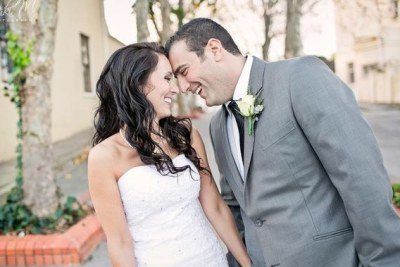 Jayde Panayiotou and her husband, Christopher, on the day they got married (file photo).