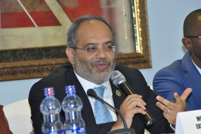 UNECA Executive Secretary Carlos Lopes speaking at the UN Conference on Financing for Development in Addis Ababa, Ethiopia.