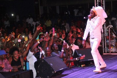 Zimbabwe dancehall music icon Wink D performing on 2016 New Year's Eve.