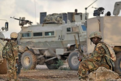 Amisom troops in Somalia (file photo).