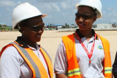 Female engineers in Tanzania.