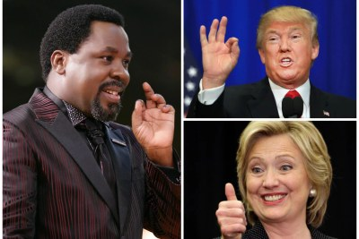 TB Joshua had said that Hillary Clinton will win the U.S. election.