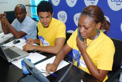 Tigo employees.