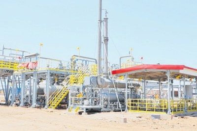 A gas extraction plant in Tanzania.