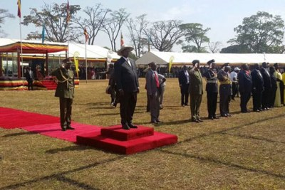Museveni during the celebrations.