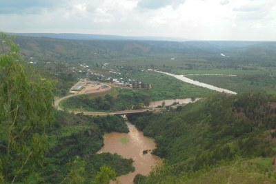 The Kagera River near Rusumo Falls forms part of the upper headwaters of the Nile River.