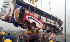 Nigerian Bus Plunges Into Lagos Canal