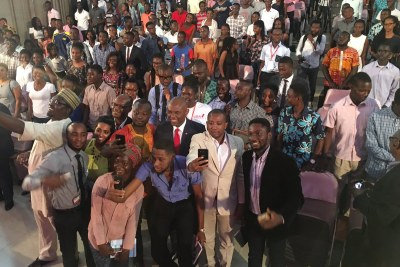 Group Chairman UBA Plc, and Founder of the Tony Elumelu Foundation, Mr. Tony O. Elumelu, spoke at the prestigious University of Ghana, Legon,  before hundreds of Ghanaian youths, academics and entrepreneurs on the first stop of his UBA tour of Africa.