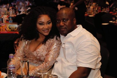 Mercy Aigbe and husband.