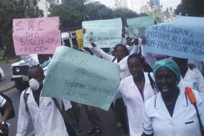 Striking nurses (file photo).