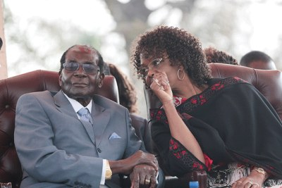 President Robert Mugabe and First Lady Grace Mugabe (file photo).