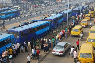 The Bus Rapid Transport system in Lagos.