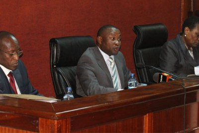 Judges George Kimondo, Alfred Mabeya and Hedwig Ong'undi.
