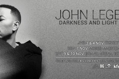 John Legend to perform in South Africa.