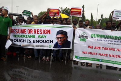 Resume or Resign Protesters take to the streets in Nigeria (file photo).