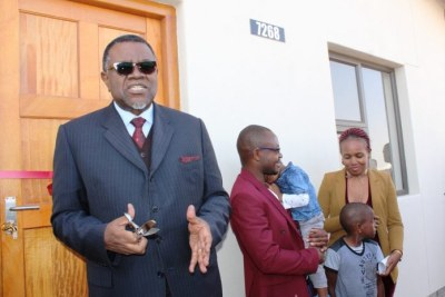 President Hage Geingob's continuous quest to provide decent and affordable houses for all Namibians is paying off, as he handed over 243 newly completed low-cost houses for occupancy.