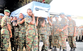 Remains of Murdered Peacekeepers Arrive in Tanzania