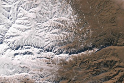The Enhanced Thematic Mapper Plus (ETM+) on the Landsat 7 satellite acquired this natural-color image of snow in North Africa on December 19, 2016. This scene shows an area near the border of Morocco and Algeria, south of the city of Bouarfa and southwest of Ain Sefra.