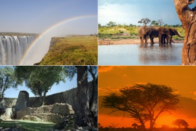 Popular tourist sites in Zimbabwe - Victoria Falls, Hwange National Park, Great Zimbabwe Ruins, Matoba National Park