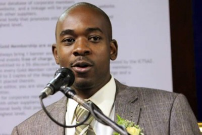 Opposition MDC-T Vice President Nelson Chamisa (file photo).