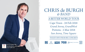 Get Ready for Irish Singer Chris de Burgh's South African Tour!
