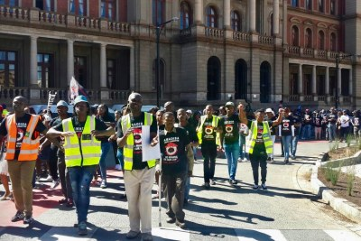 About 200 people from mining communities across the country picketed outside the Pretoria High Court on Tuesday in support of the Right To Say No to Mining Campaign.
