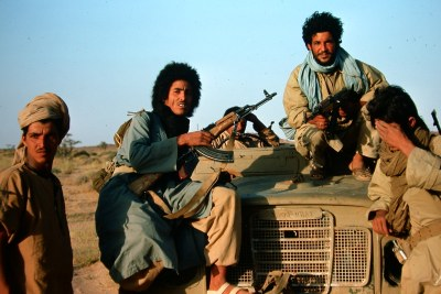 Independence fighters in Western Sahara, 1977