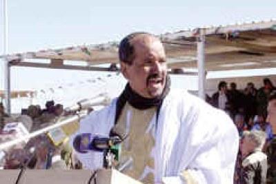 Le président de la RASD, M. Mohamed Abdelaziz