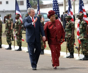 President Bush Makes Historic Visit to Liberia