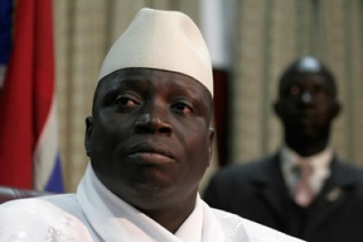 Gambian President Yahya Jammeh, shown in 2006 after his election to a third five-year term. (AP photo)