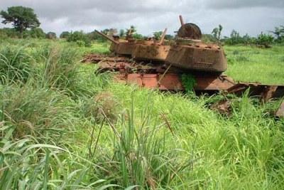 Les ruines de la guerre civile de 1998-1999 en Guinée Bissau.